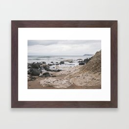 White Rocks of Portrush Ireland Framed Art Print