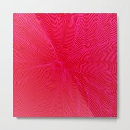 spiral warped red Metal Print