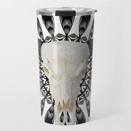 Bull Skull Mandala Travel Mug