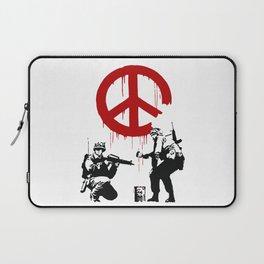 Soldiers Painting Peace Symbol, Banksy, Streetart Street Art, Grafitti, Artwork, Design For Men, Wom Laptop Sleeve