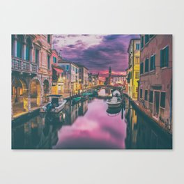 Canal and the Boats Canvas Print