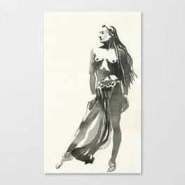 nude watercolor study Canvas Print