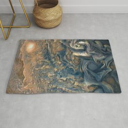 Surface of Jupiter Atmosphere Telescopic Photograph Rug