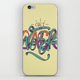 Get Back To Work iPhone Skin