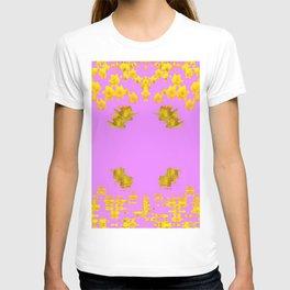 DECORATIVE MODERN PINK-DAFFODILS ART FLORAL T-shirt