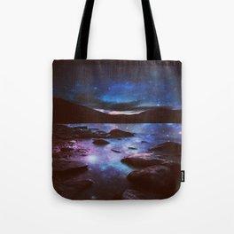 Magical Mountain Lake Deep Cool Tone Tote Bag