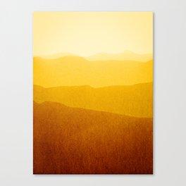 gradient landscape - sunshine edit Canvas Print