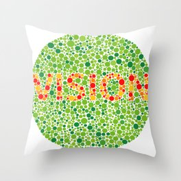 Colour Blindness Vision Throw Pillow