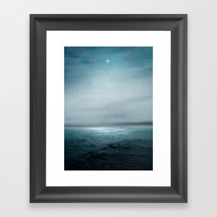 Sea Under Moonlight Gerahmter Kunstdruck