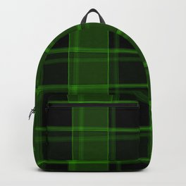 Bright intersections of light and herbal lines on a dark background. Backpack