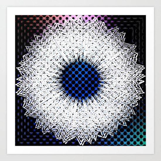 Ice wreath Art Print