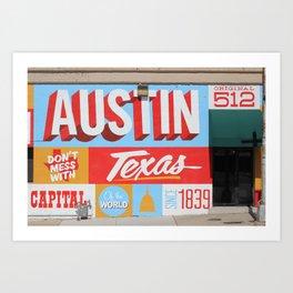 Austin, TX Art Print