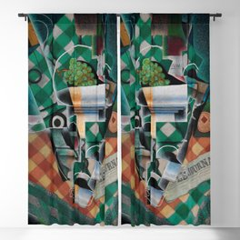 """Juan Gris """"Still Life with Checked Tablecloth"""" Blackout Curtain"""
