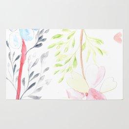 170404 Steady Pacing 14 |Modern Watercolor Art | Abstract Watercolors Rug