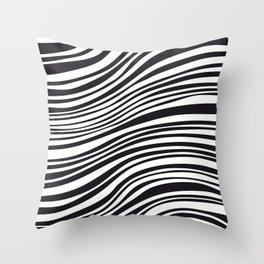 Modern Black & White Stipes - Zebra Animal Throw Pillow