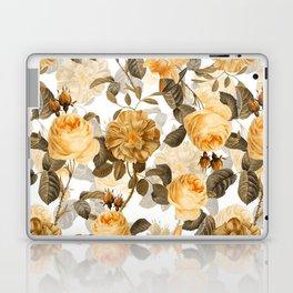 Vintage & Shabby Chic - Yellow Sepia Botanical Rose Flower Garden Laptop & iPad Skin