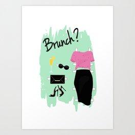 Brunch Art Print