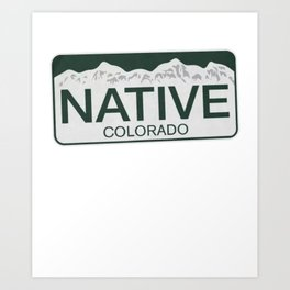 Colorado Native colorado camp Art Print