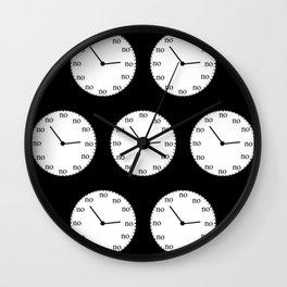 No Time Wall Clock