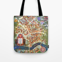 HARVARD University map MASSACHUSETTS Tote Bag