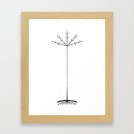 TREE CULT - BLACK Framed Art Print