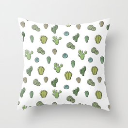 Cartoony Cacti pattern Throw Pillow