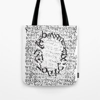 letters Tote Bags featuring Letters  by Enver Yigit