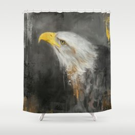 The Mighty Bald Eagle Shower Curtain