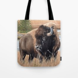 American Bison Painting Tote Bag