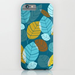 Winter Forest / Leaf Pattern iPhone Case