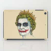 queen iPad Cases featuring God Save the Villain! by Enkel Dika