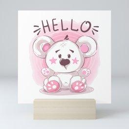 Cutiest Teddy Bear Mini Art Print
