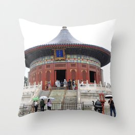 Beijing Temple du Ciel | Temple of Heaven Throw Pillow