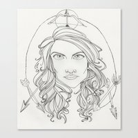 allison argent Canvas Prints featuring Allison by Wolfhearted