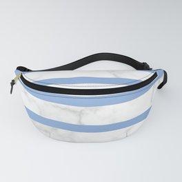 marble horizontal stripe pattern blue Fanny Pack