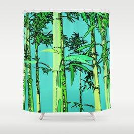Bamboo cartoonized Shower Curtain