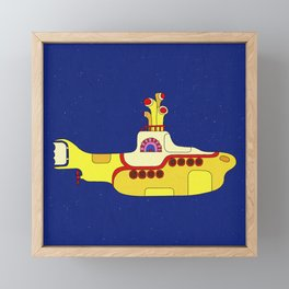 We all live in a yellow submarine Framed Mini Art Print