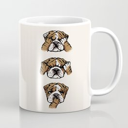 No Evil English Bulldog Coffee Mug
