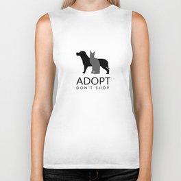 ADOPT DON'T SHOP (shelter pets) Biker Tank