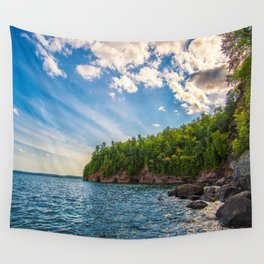 Presque Isle Cliffs Wall Tapestry
