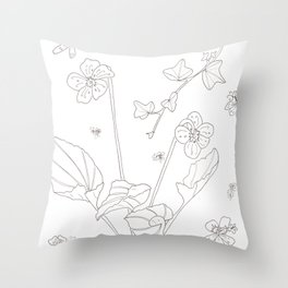 Flora of Friendship - Color or Paint Your Own! Throw Pillow