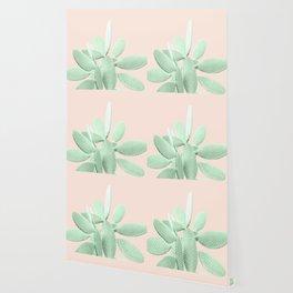 Green Blush Cactus #1 #plant #decor #art #society6 Wallpaper