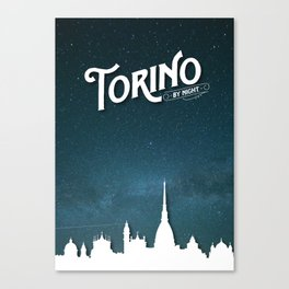 Torino by Night - Poster Canvas Print