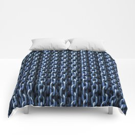 Teal Chains Comforters