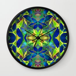 Floral Fractal Art G373 Wall Clock