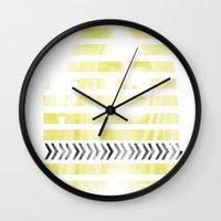 cara delevingne Wall Clocks featuring Cara Delevingne by Clara J Aira