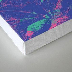 Colored Palms Canvas Print