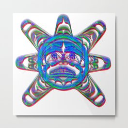 The sun god of the Aztec Empire Metal Print