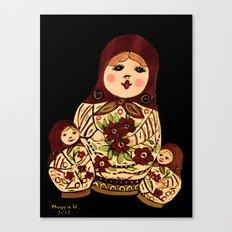 Russian dolls 2 / warmer colors  Canvas Print