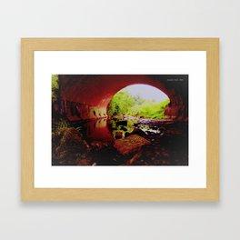 RED UNDER WORLD Framed Art Print